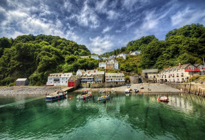 View from Clovelly, a fishing port in Devon