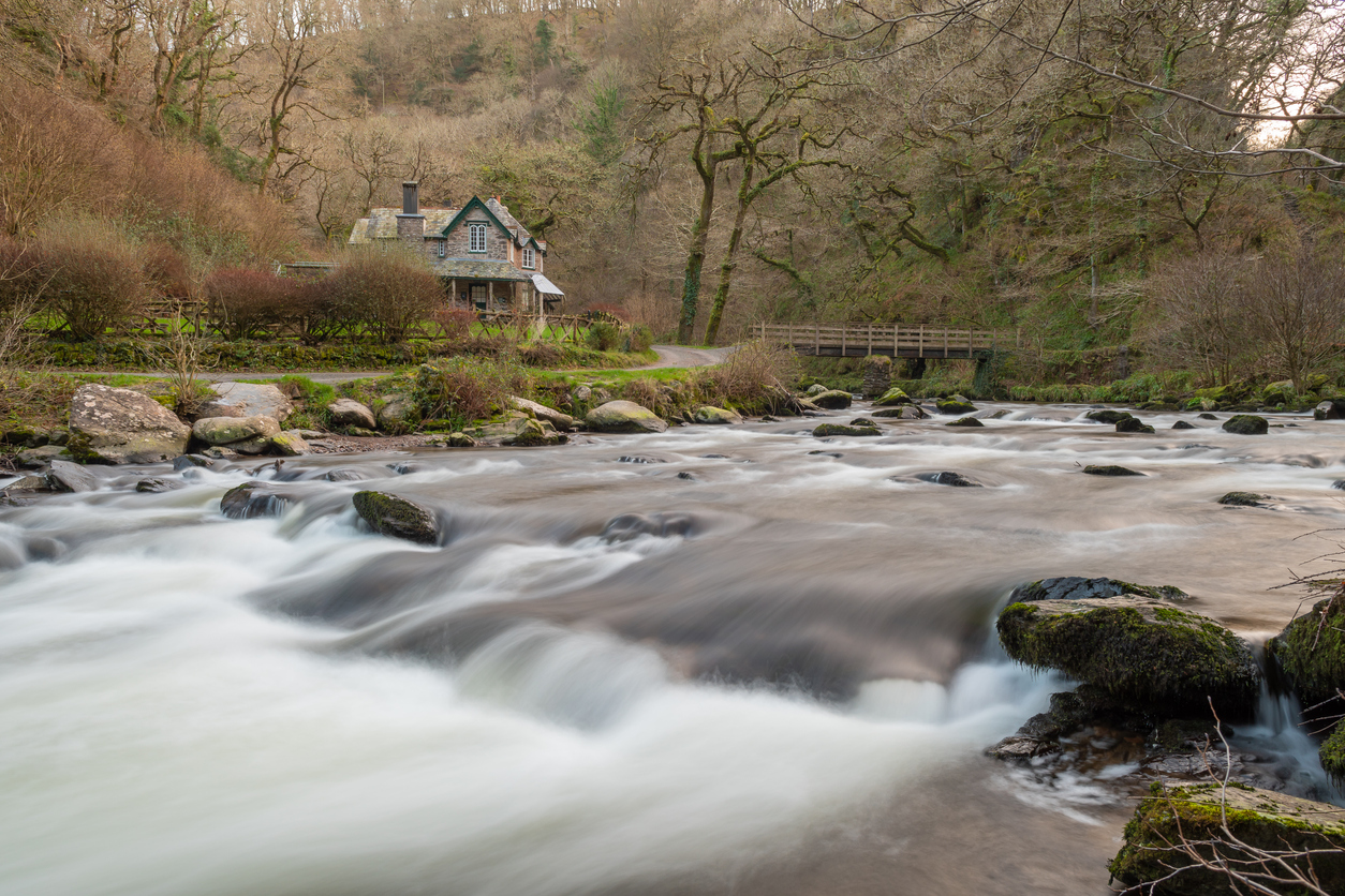 Rushing River at Watersmeet North Devon
