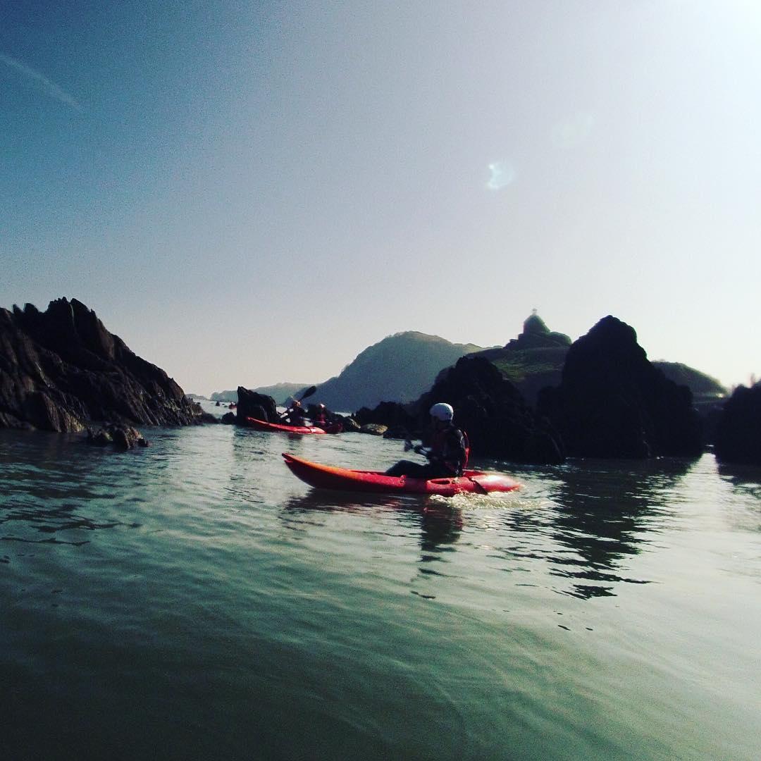 Kayaking around Woolacombe