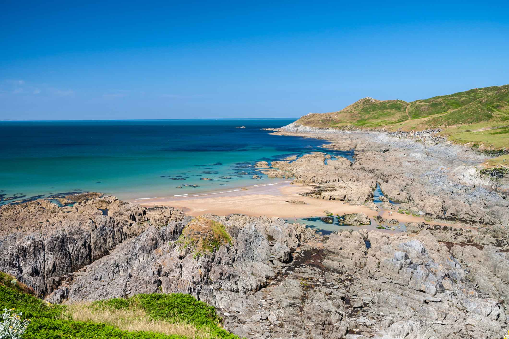 Stunning View of North Devon Coastline at Woolacombe