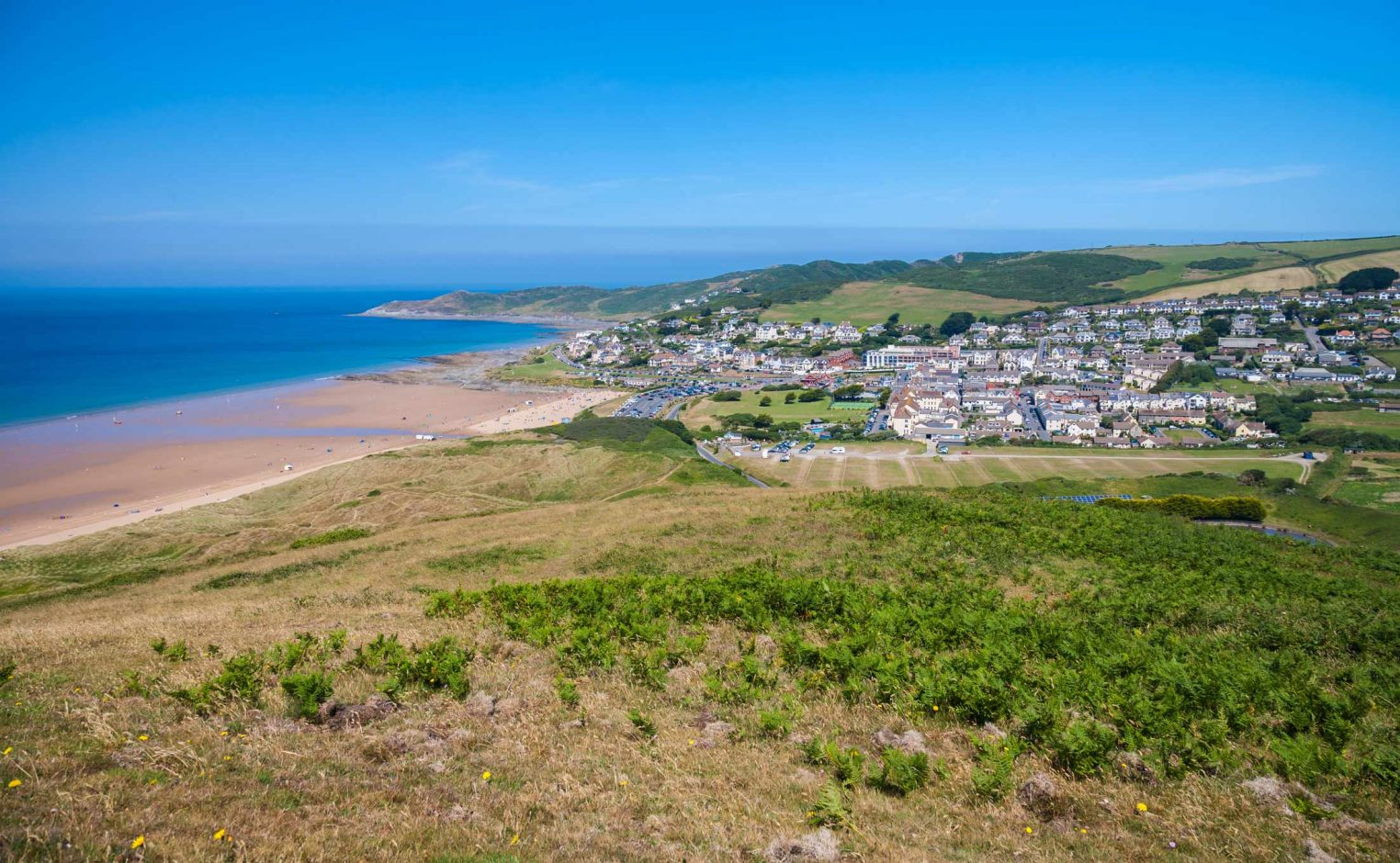 Woolacombe Village as Seen from Potters Hill